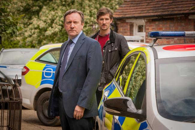 Neil Dudgeon as DCI Barnaby and Gwilym Lee as DS Nelson in Midsomer Murders, much of which has been filmed in Thame. Picture: Bentley Productions for ITV