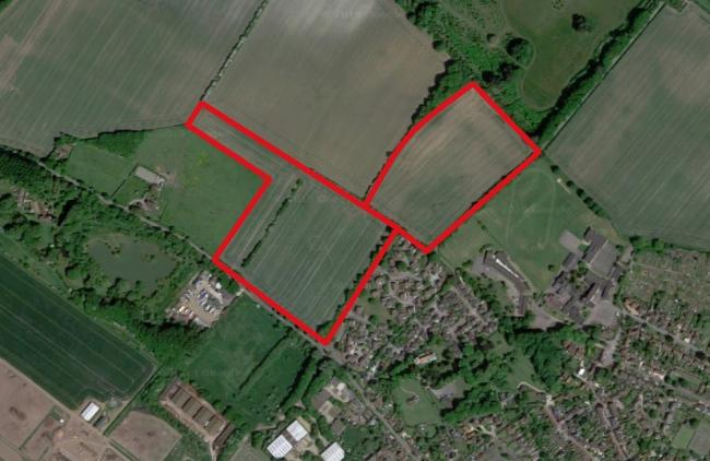The two neighbouring sites in Watlington, South Oxfordshire, where Providence Land Ltd is seeking planning permission for a total of 130 homes. Picture: Google Maps