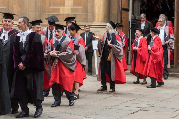Encaenia at Oxford University Picture Oxford Mail