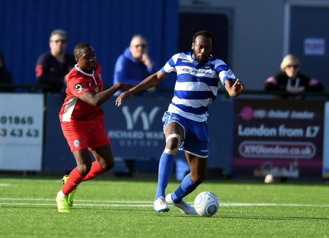 Tarik Moore-Azille seen in action for Oxford City at the end of last season Picture: Mike Allen