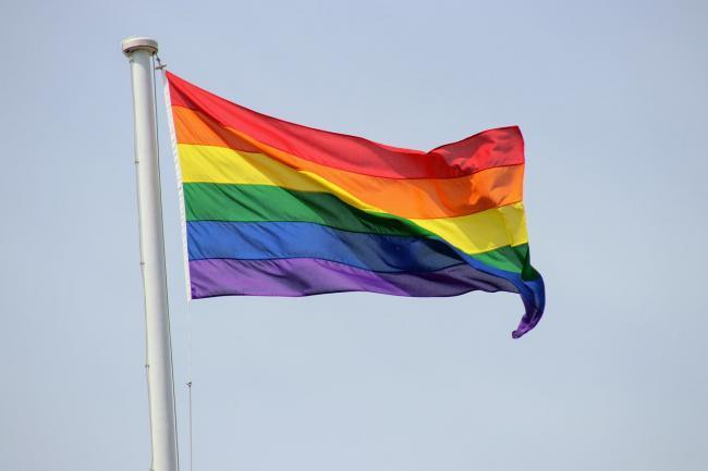 The rainbow pride flag flying in Abingdon. Picture by Oxford Mail Camera Club member Howie Cook