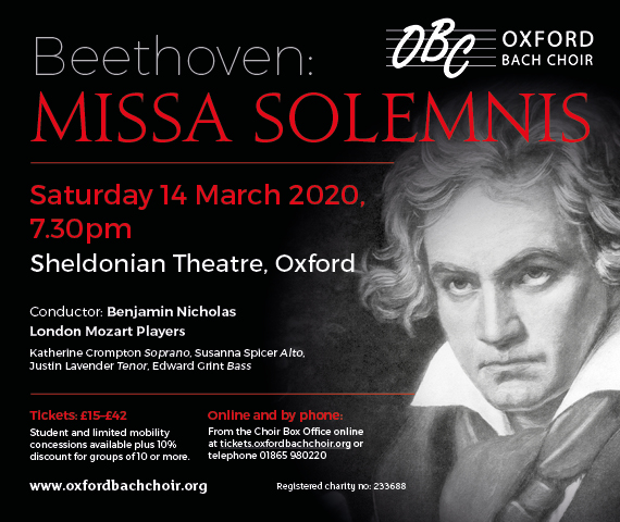 Oxford Bach Choir: Beethoven's Missa Solemnis
