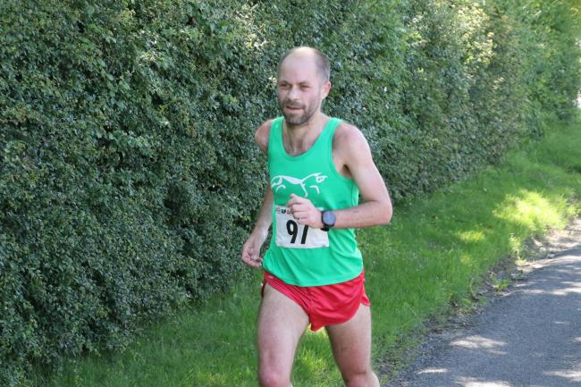 Paul Jegou on his way to third place at the Kingham 10k Picture: Barry Cornelius