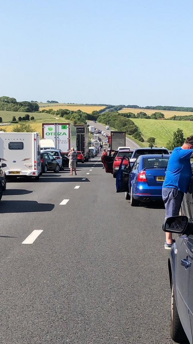 Motorcyclist dies in crash that shut A34 for hours