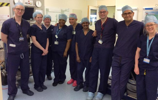 Horton Theatres and Day Case Unit staff involved in the first Urology Laser Stone procedures at the Horton General Hospital