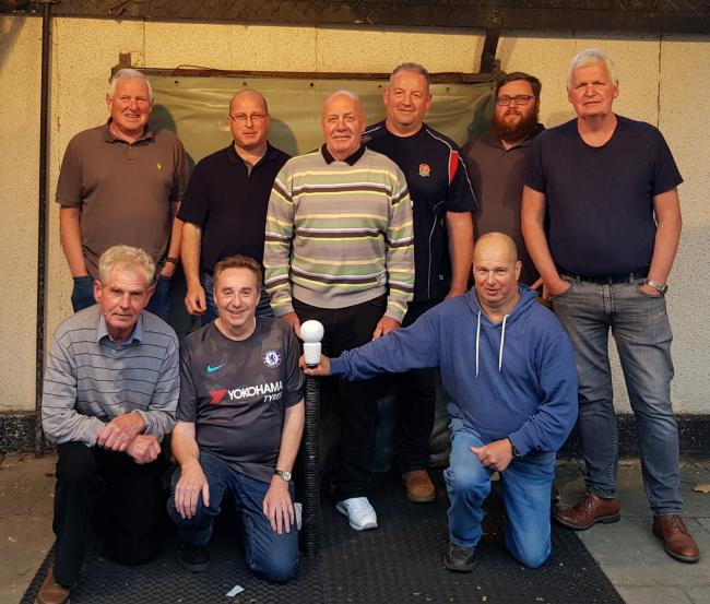 Garsington Sports. Back row (from left): Phil Jackson, Barry Ruffels, Malcolm Hill, Rob Jeffery, Anthony Tinson, Steve Wyatt. Front: Andy Young, Trevor Greenaway, Martin Ruffels
