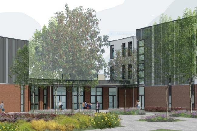 An artist's impression of the new Whitelands Academy. Pic: ADP