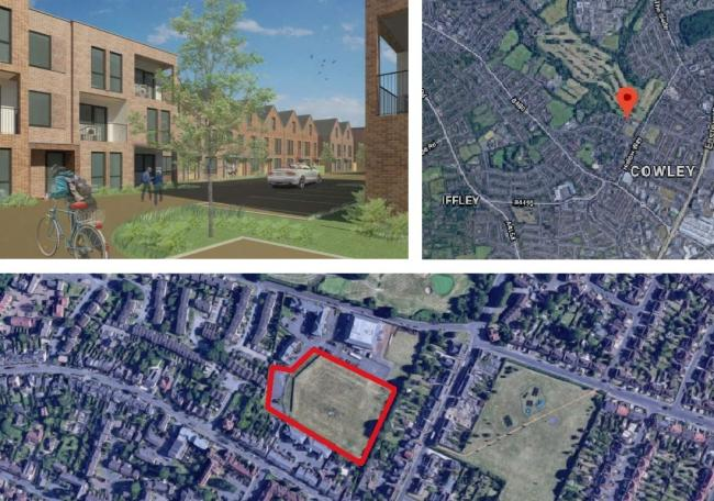 Plans for 102 new homes in William Morris Close, Oxford. Pictures: Cantay Estates/ Google Maps