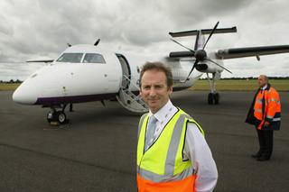The airport's marketing manager James Dillon Godfray