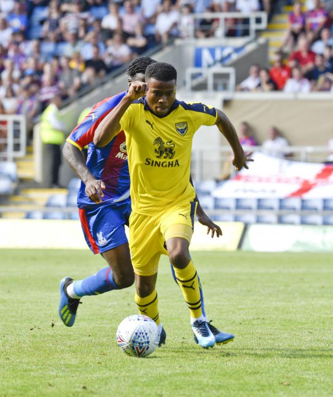 Malachi Napa during Oxford United's pre-season last summer, when he made a similarly good start. After catching the eye again, boss Karl Robinson wants to see the winger maintain his level  Picture: David Fleming