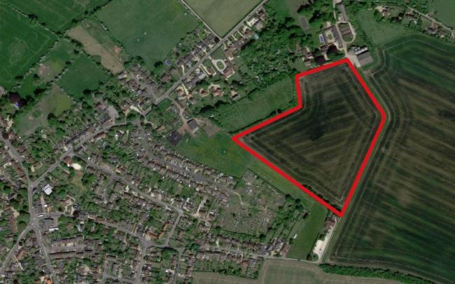 Land off Wallingford Road, Cholsey, where Pegasus Planning Group wants to build 106 homes. Picture: Google Maps