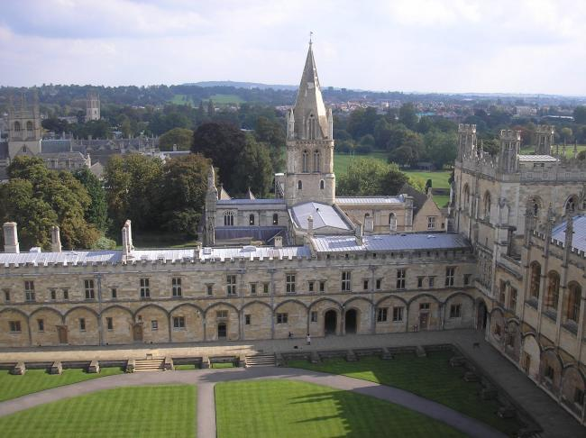 An aerial view of Christ Church Picture Purcell