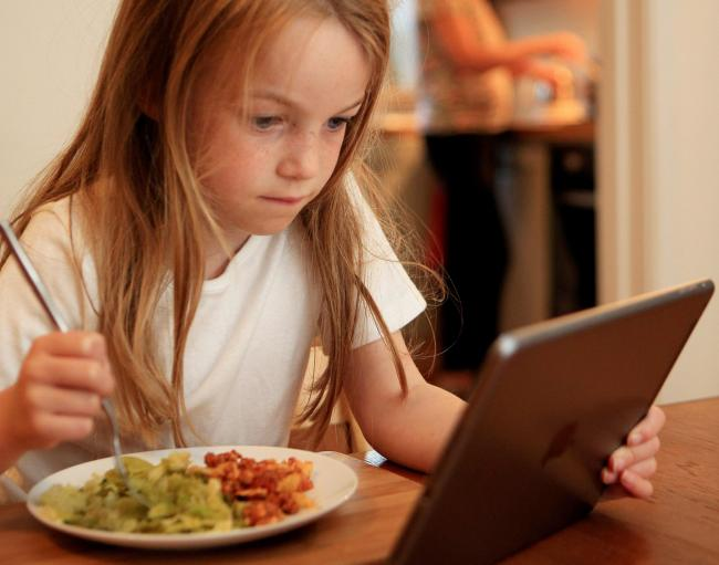 Stock photo of child using an iPad.See National News story NNscreen.Parents who reward their children's good behaviour with extra screen time can expect them to spend even more time online, warns new research. It's a well used modern day parenting