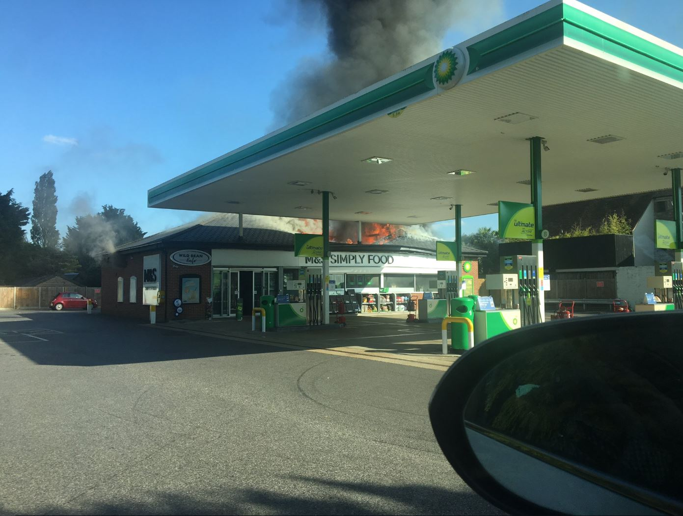 Stadhampton BP petrol station on fire: Traffic builds after road closed