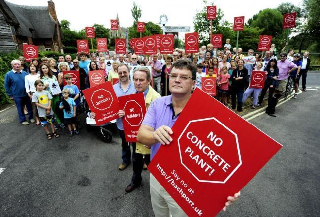 Residents opposed to the plan going ahead packed into County Hall yesterday