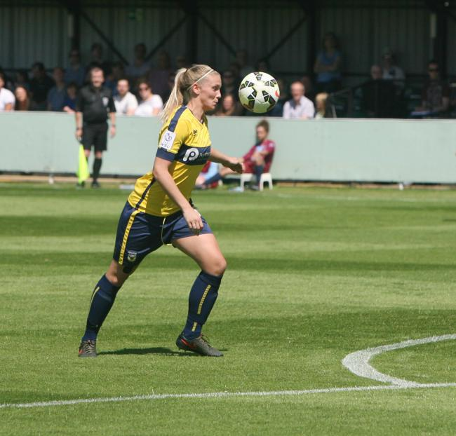 Kayleigh Hines during her previous spell with Oxford United