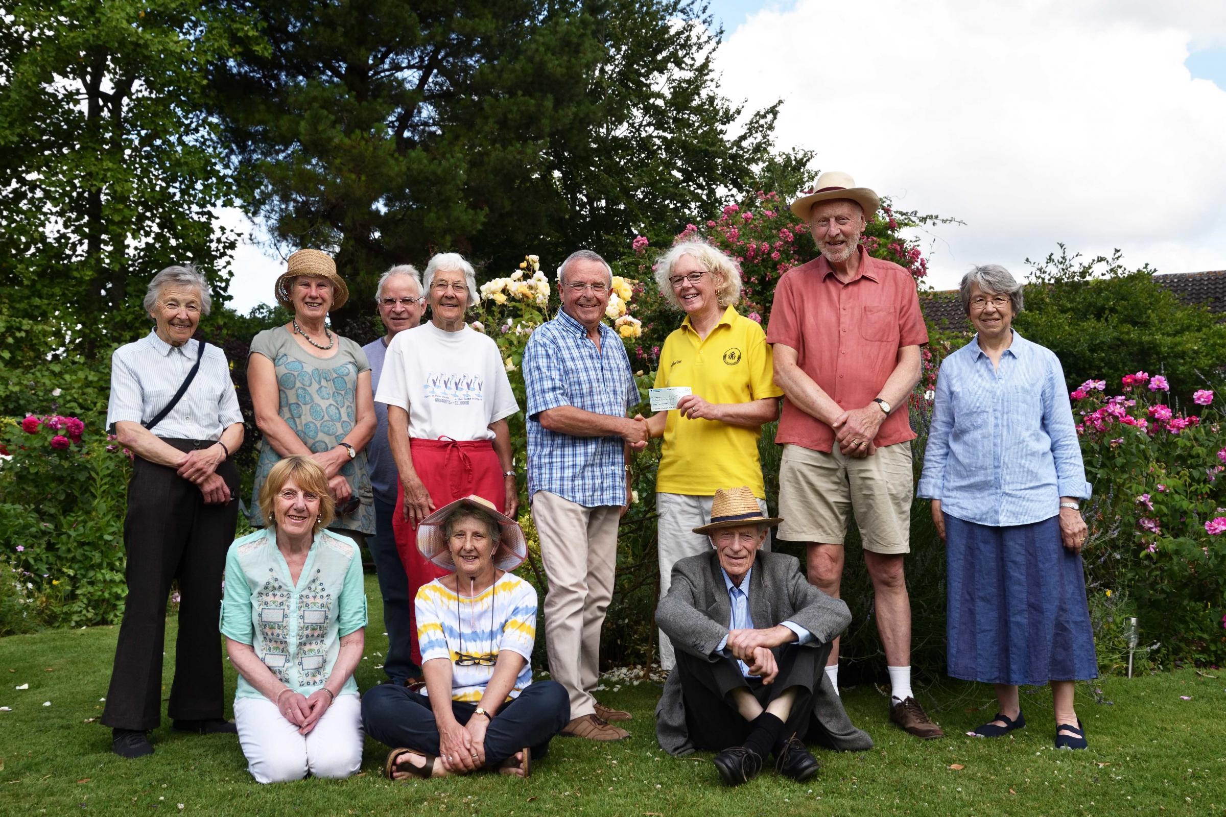 Cumnor Gardening Club raises money for Flexicare