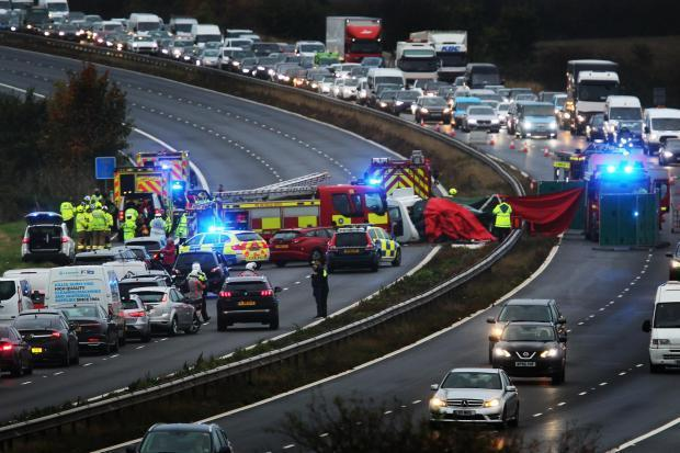 M40 crash scene. Picture: Ed Nix