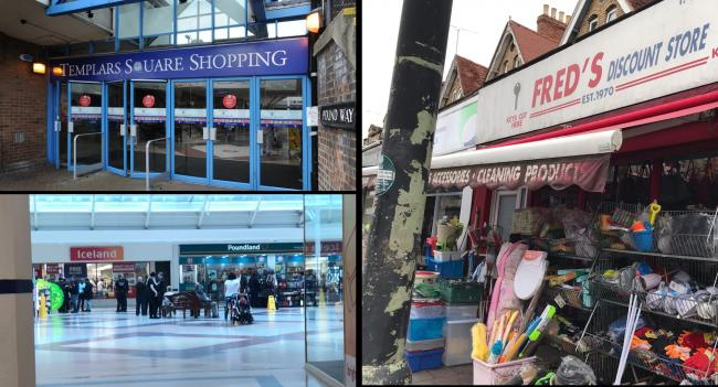 Immigration raids at Templars Square Shopping Centre and Fred's Discount Store on Cowley Road
