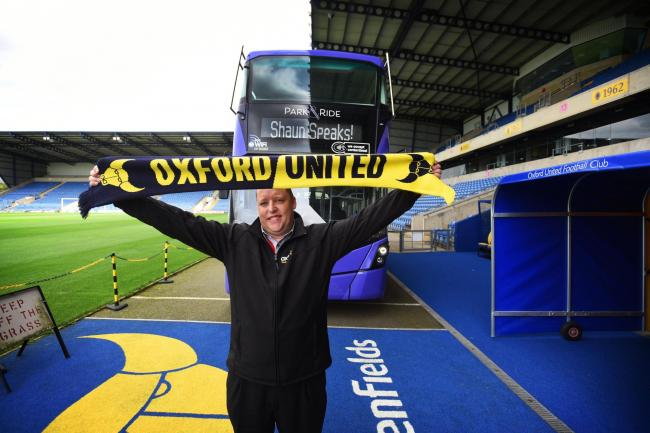 Shaun Ritchie, Thames Travel Depot Manager in an event at the Kassam Stadium Picture Oxford Bus Company