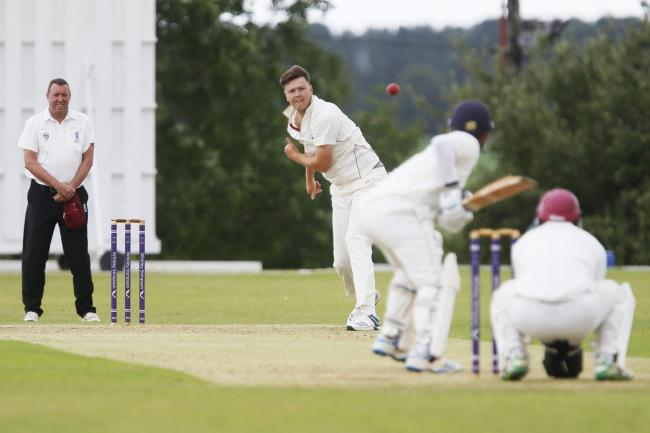 Banbury's Joe Thomas bowls against Horspath in the Home Counties Premier League last season Picture: Ed Nix