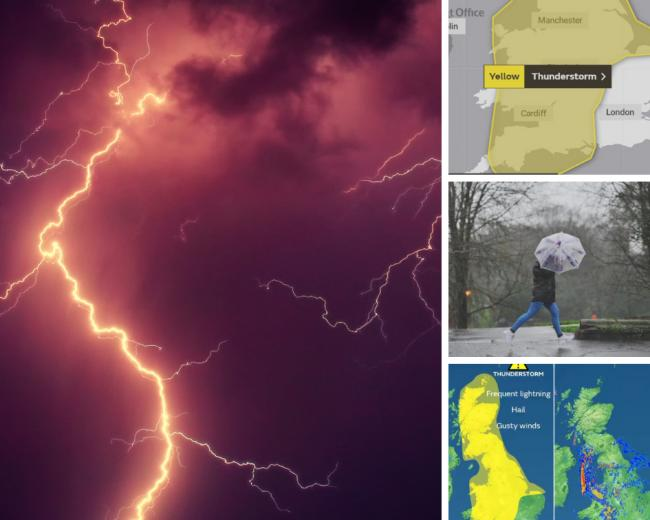 Weather warning - thunderstorms are on the way