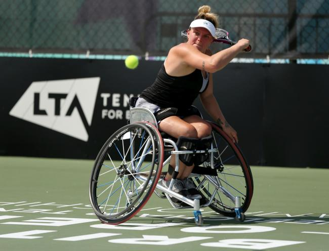 Jordanne Whiley reached the quarter-finals of the singles and the final of the doubles at the British Open Picture: LTA
