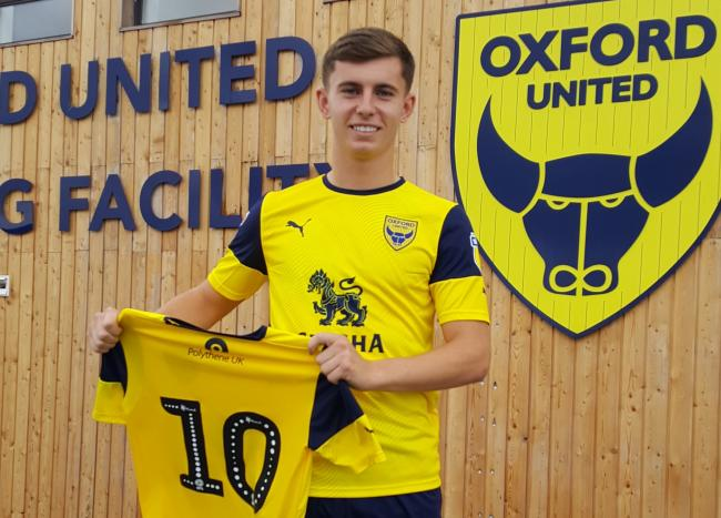 Ben Woodburn at Oxford United's training ground this afternoon after signing from Liverpool  Picture: David Pritchard
