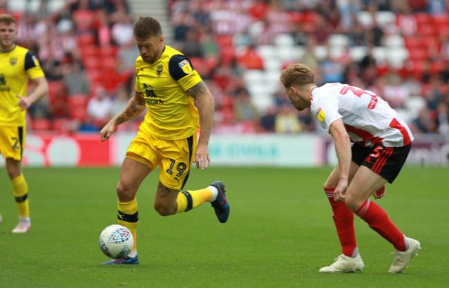 Jamie Mackie was rested in midweek, but is set to lead Oxford United's forward line in their Sky Bet League One clash at Blackpool this afternoonPicture: Richard Parkes