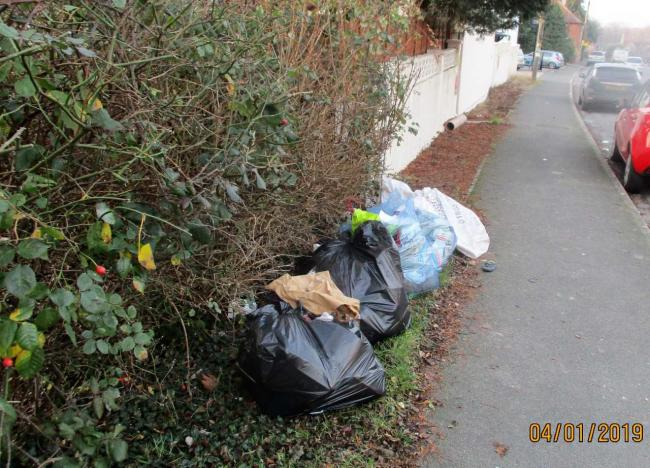 South Oxfordshire District Council officers took this photo of some of the rubbish