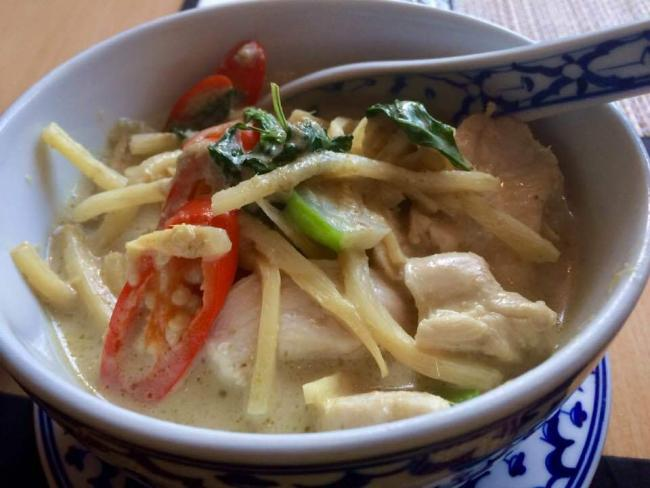Green Thai curry at Hugomango's, Abingdon. Picture: Erin Lyons