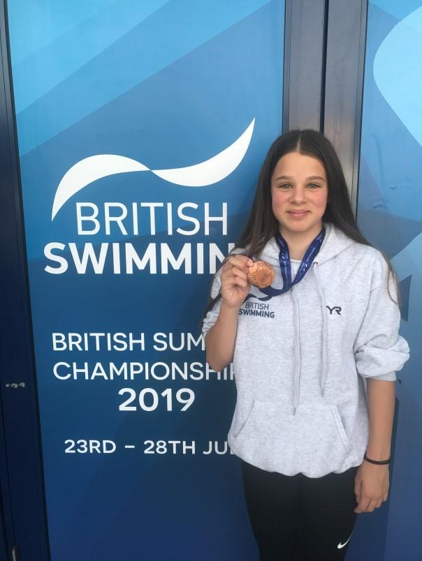 Witney's Eleanor Perks with her bronze medal from the national championships