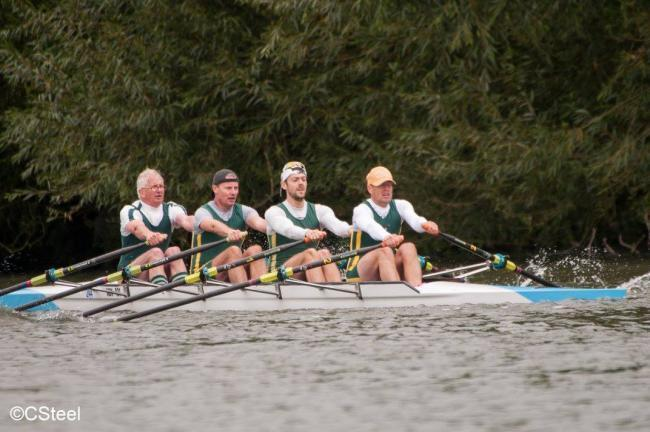 Abingdon Rowing Club members on an existing boat Picture: C Steele Photography