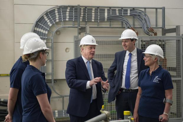 Oxford Mail: Boris Johnson at Culham Science Centre this morning. (Pic: Julian Simmonds/The Daily Telegraph/PA Wire)