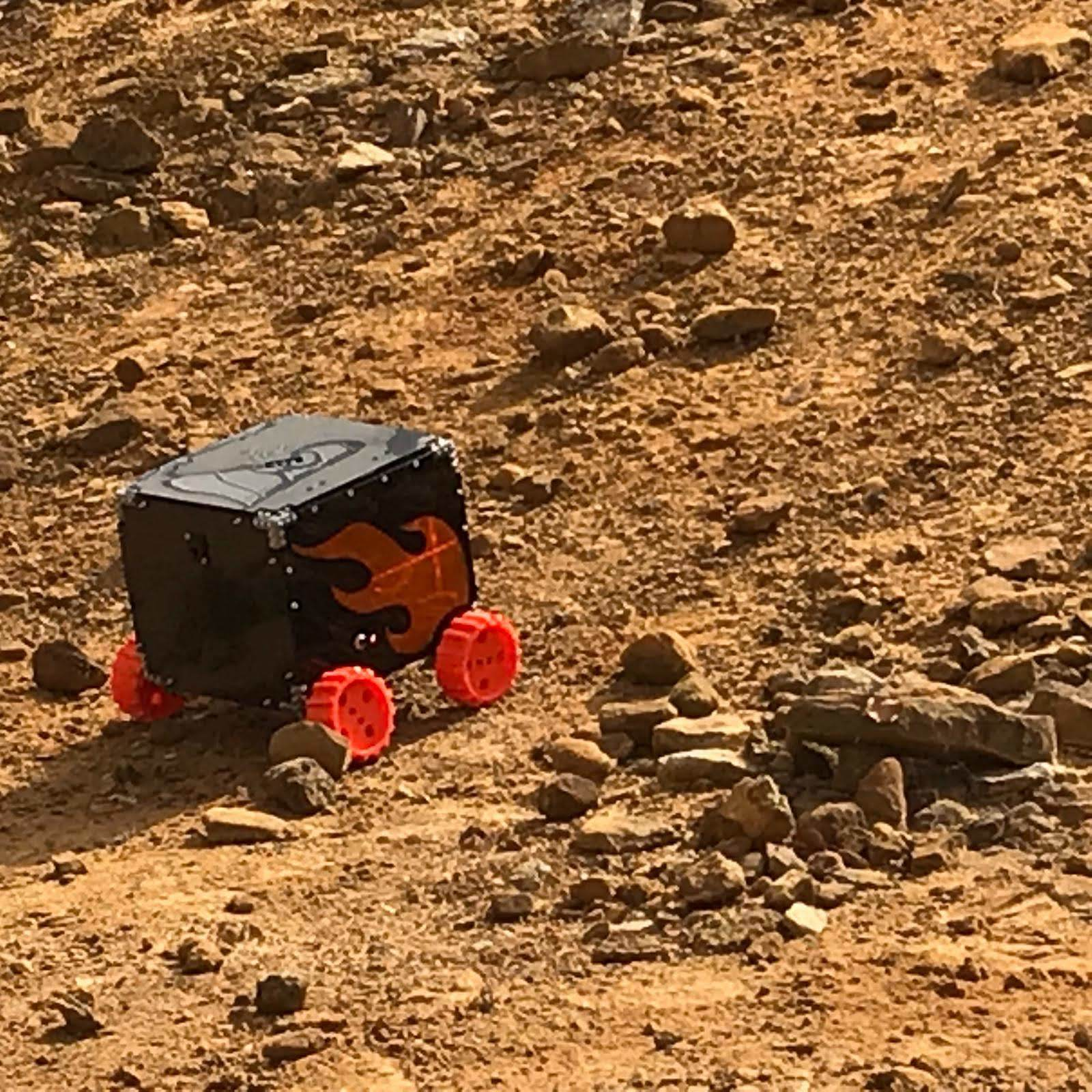 Mini Mars Rovers roam RAL Space, Harwell Campus, for annual Olympus Rover Competition