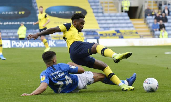 Tariqe Fosu is fouled in Oxford United's 1-0 win over Peterborough United Picture: David Fleming