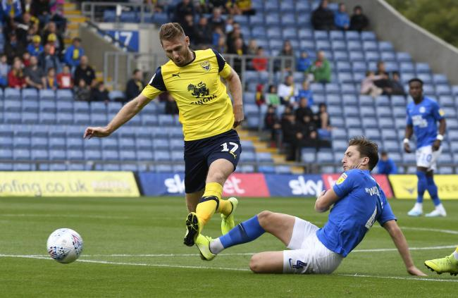 James Henry battles for the ball in Oxford United's win against Peterborough United  Picture: David Fleming