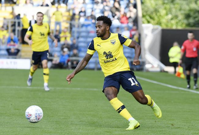 Tariqe Fosu's tight hamstring was scanned yesterday and Oxford United will assess the results before deciding if he can feature tonight  Picture: David Fleming