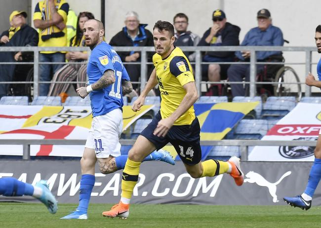 Anthony Forde came on for his Oxford United debut against Peterborough United on Saturday. The winger is in line to make his first start against the same opposition in the Carabao Cup tonight  Picture: David Fleming