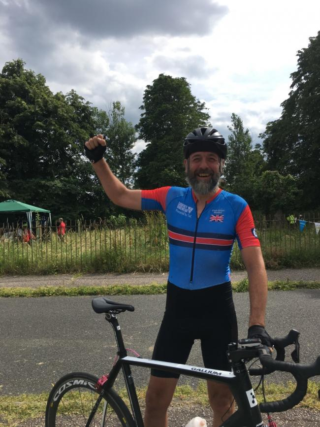 Dave Dyer, a teacher at Cherwell School, taking part in a cycling challenge in his role as a CTAG member. Picture: CTAG