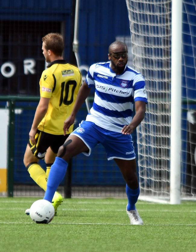 Tariq Moore Azille scored twice for Oxford City