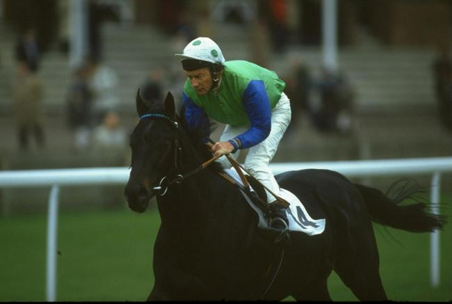 Lester Piggott on Tintagel Castle during a race at Newmarket racecourse in 1990. Picture: Gray Mortimore