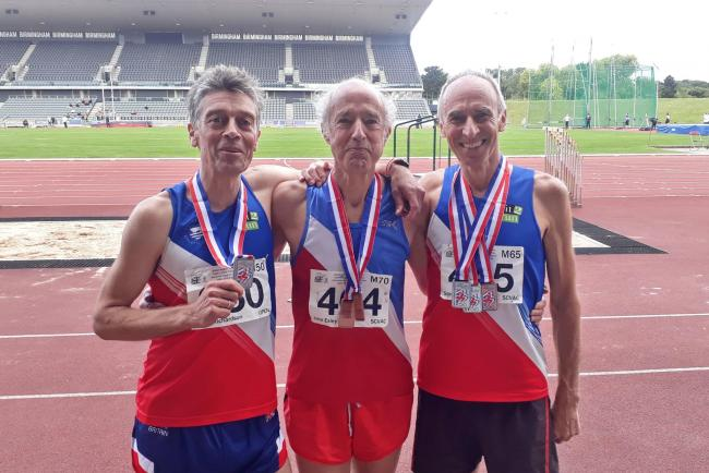 Oxford City trio Julian Richardson, John Exley & Stewart Thorp with their medals