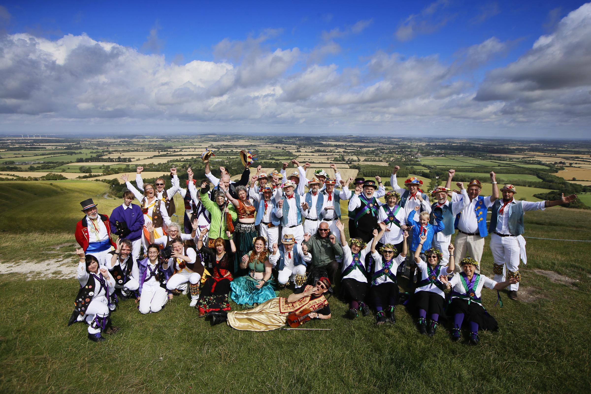 White Horse Hill Folk Festival 2019: Icknield Way Morris Men 60th anniversary