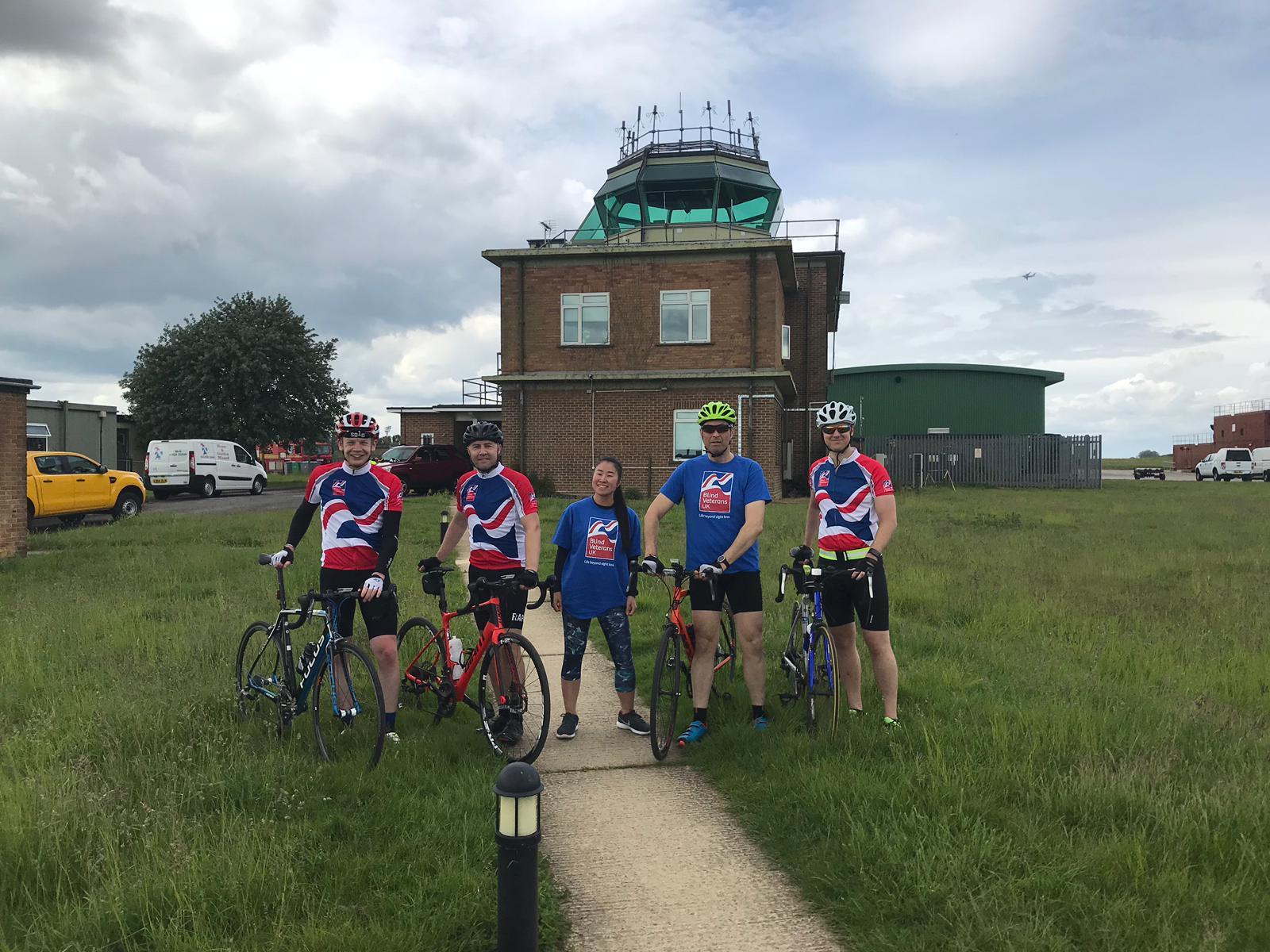 RAF sergeant rides around Brize Norton base for Blind Veterans UK