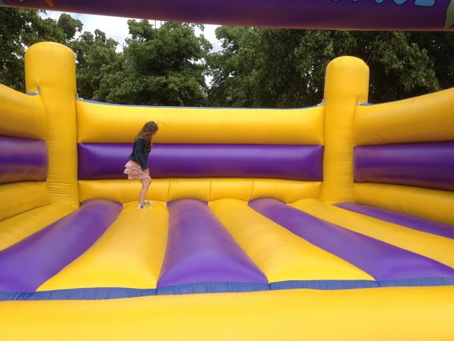 A bouncy castle (not operated by Darkfell Limited, Funtime Bounce Limited or Funtime Entertainment Limited)