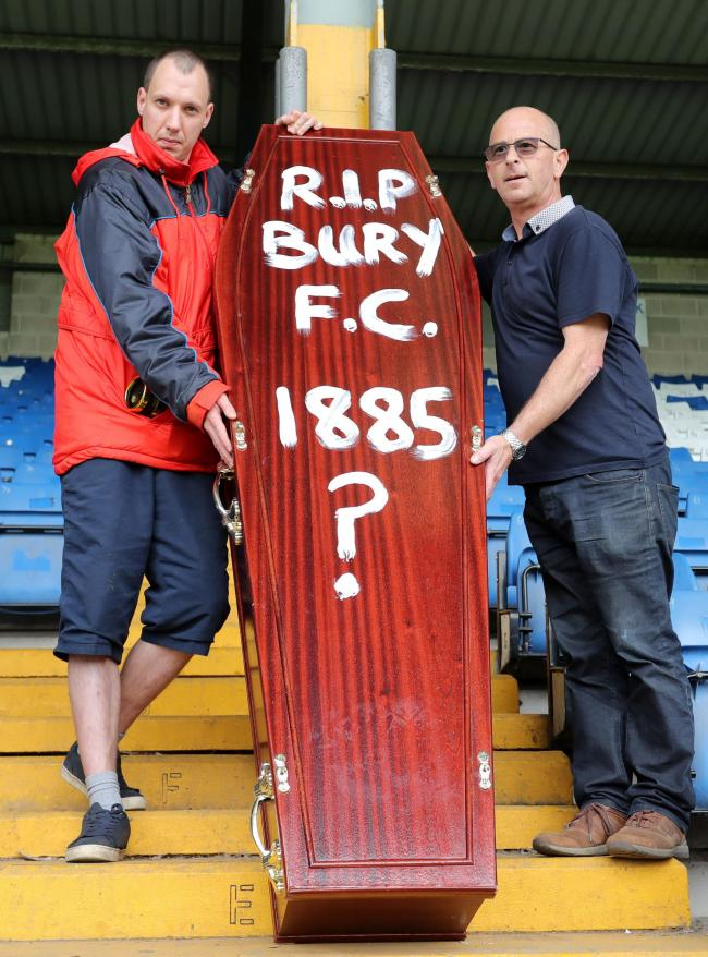 Bury fans protest at Gigg Lane earlier this week  Picture: Richard Sellers/PA Wire