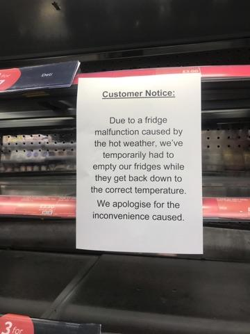 The notice in M&S at Oxford Station Picture: Fran Way