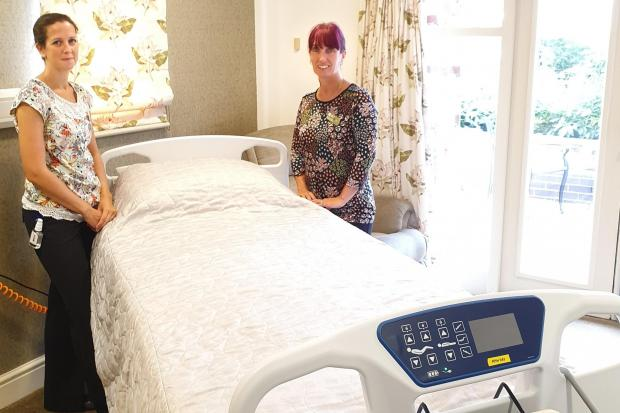 Praised as 'brilliant' by the team, new beds at the Katharine House Hospice were purchased with The Gannet Foundation's support