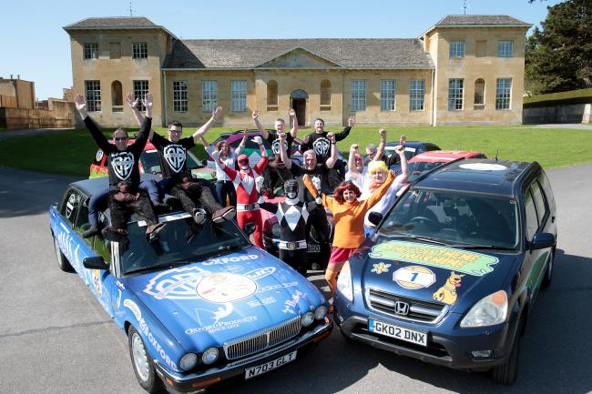 Entrants from some of the businesses taking part at the launch of the Twin Town Challenge 18 at Cornbury Park, home of Special Effect, the charity the event supports.Picture: Ric Mellis.17/5/2018.